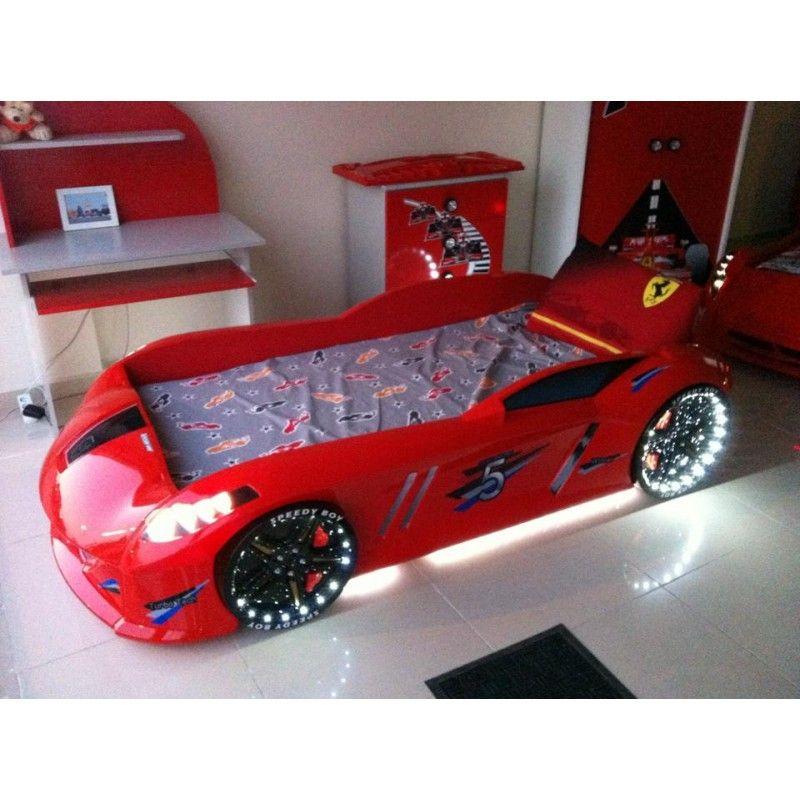 Best Red Racecar Bed For Kids Jaguar With Led Lights Kids 640 x 480