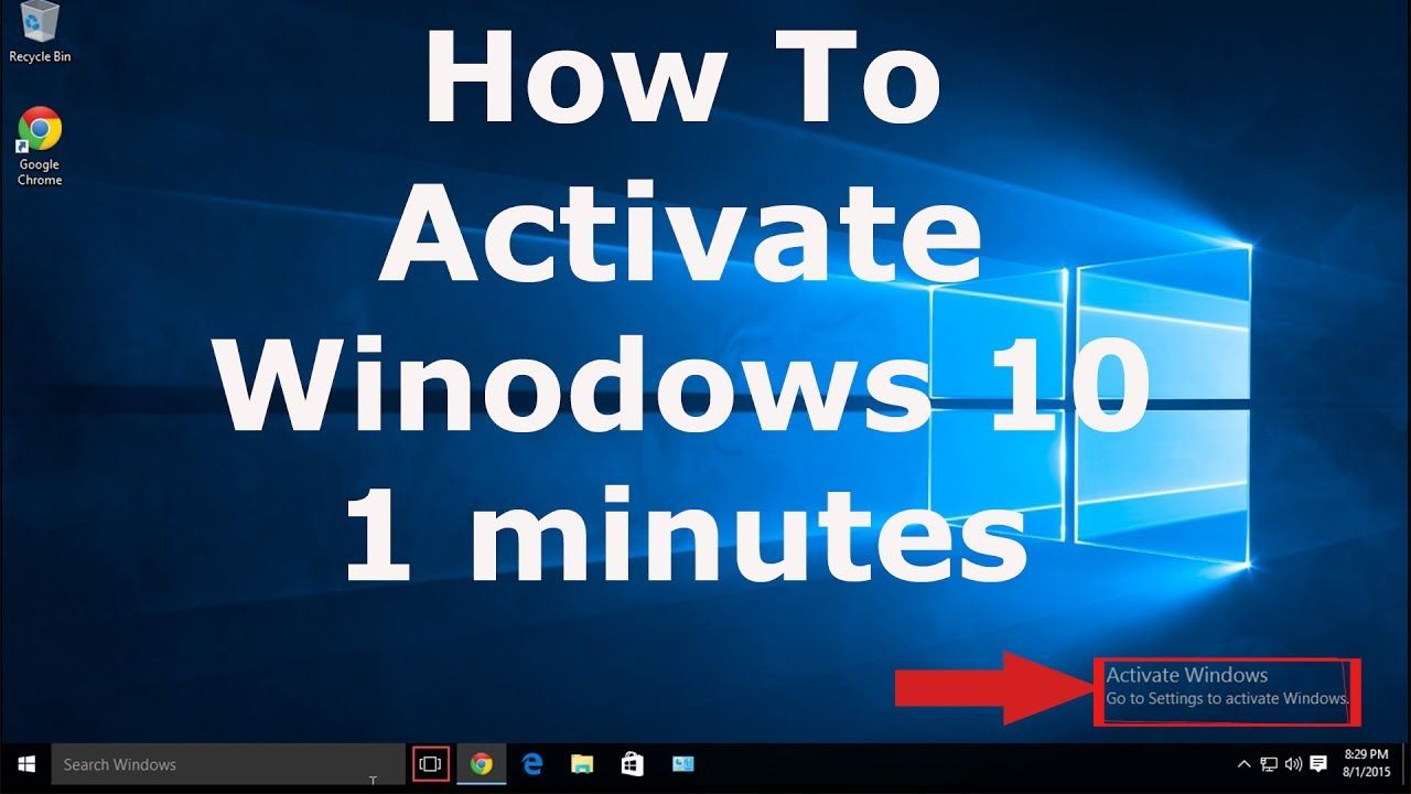 How To Activate Windows 10 In 1 Minute Activate Windows 10 Pro Enterpr Windows 10 Activated Digital Marketing Social Media