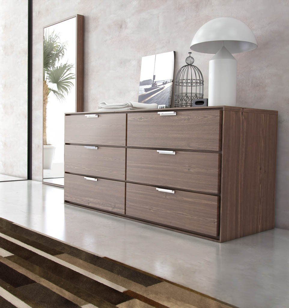 Thompson Dresser Walnut In 2021 Contemporary Bedroom Furniture Modern Contemporary Bedroom Furniture Modern Bedroom Dressers Dresser with lots of drawers