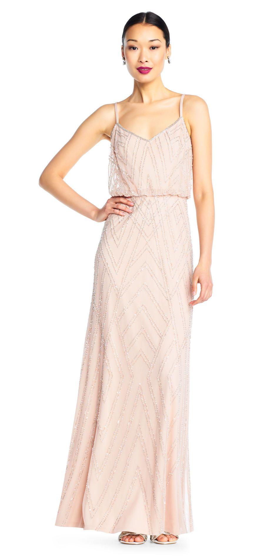 Diamond beaded blouson dress bridesmaids dresses pinterest