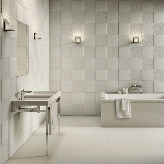 Piastrelle bagno bianche con fantasie cerca con google bagno pinterest tiles bathroom e - Piastrelle bagno bianche ...
