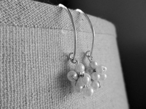Pearl Cluster by SFDesigns2015 on Etsy  Sterling Silver Earrings Bead Pearl Jewelry