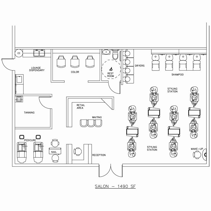Beauty Salon Floor Plans Hair: Small Beauty Salon Floor Plans Awesome 23 Nail Salon Floor