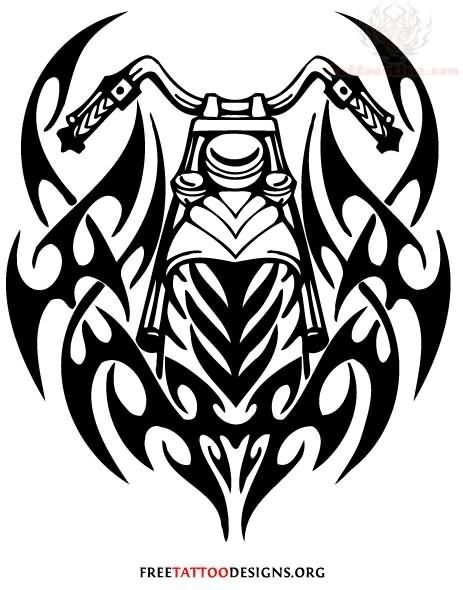 Tribal Motorcycle Tattoo Designs This Is Absolutely Super Harley Davidson Tattoos Biker Tattoos Motorcycle Tattoos