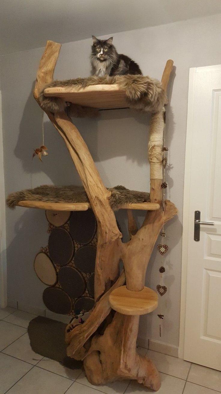 Arbre A Chat A Faire Maison arbre à chat fait maison #catsdiyhomemade - katter - #cat