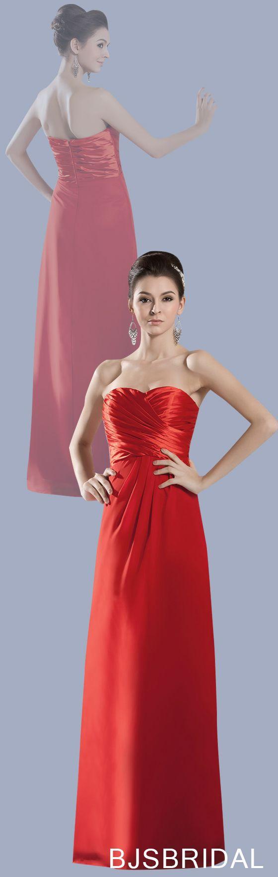 Red mature sweetheart zip up chiffon floor length long evening dress