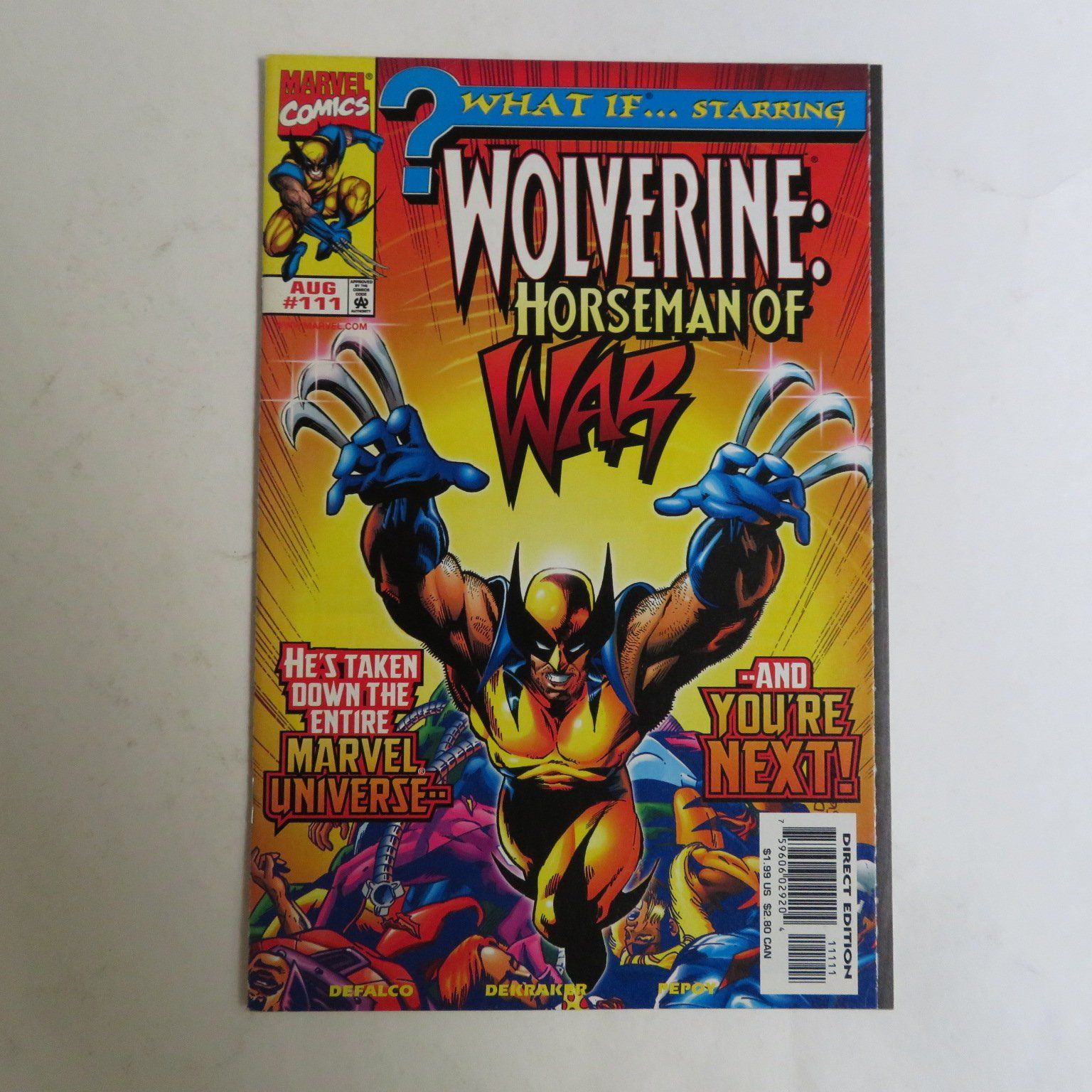 What If 111 (1991) Wolverine Horseman of War Guardian X