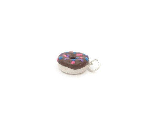 White Vanilla Donut Polymer Clay Charmdonut by SweetTreatsCharms