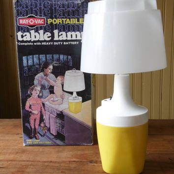 Do I have one??- Ray-O-Vac Lamp/Camping Light/Vintage Table Lamp/Portable Lamp/Glamping/Lantern