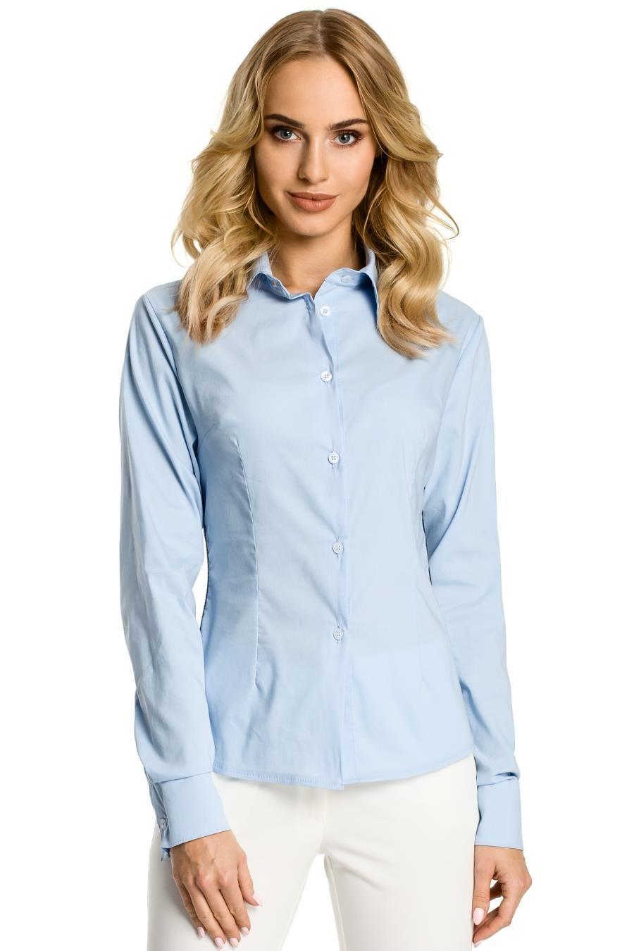 Błękitna koszula damska 2020 elegancka, modna, piękna  IQtBC