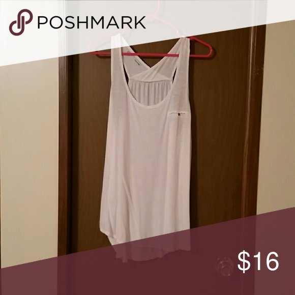 Size large white shirt Excellent condition. I don't wear it. So no need to keep it. Maurices Tops Tank Tops