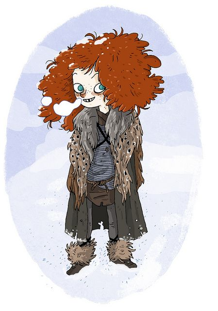 You know nothing, Jon Snow.   Ygritte from A Game of Thrones illustrated Bea Tormo :: via domestika.org