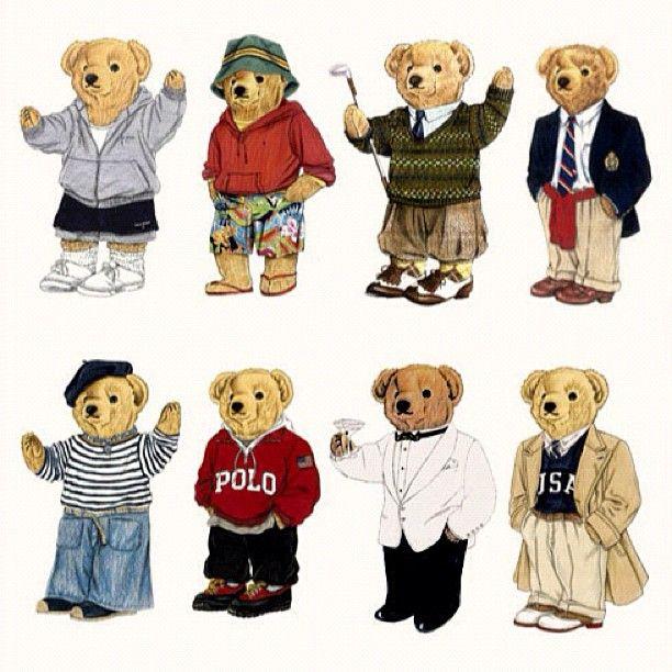 Ralph Lauren Montage Of Polo Bears People Ralph Lauren