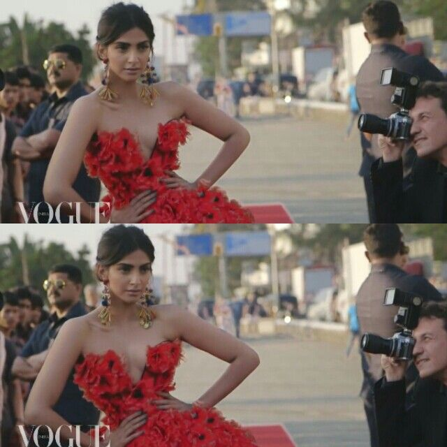sonam kapoor for vogue photoshoot