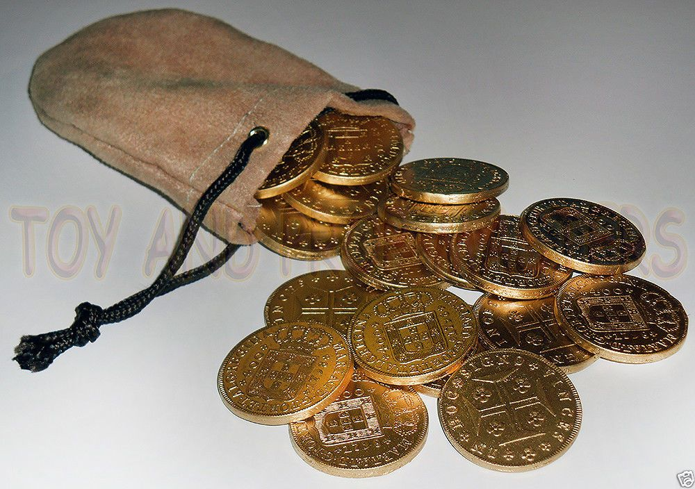 Indiana Jones and the Temple of Doom Lao Che 18 gold coins & pouch Replica Prop!