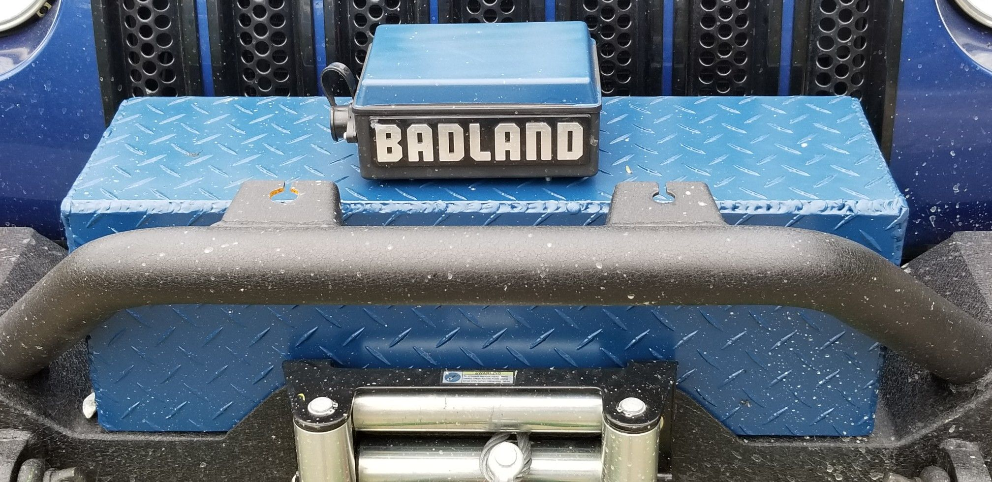 winch cover for the badlands winch [ 2016 x 980 Pixel ]
