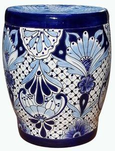 Super Talavera Garden Bench Blue White Talavera Pottery Machost Co Dining Chair Design Ideas Machostcouk