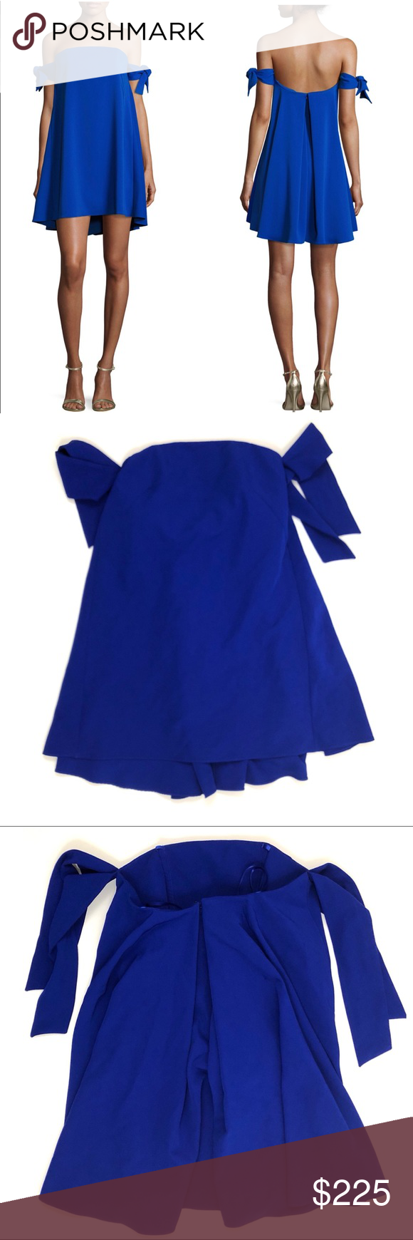 4eaff77e84bcc NWT Jade blue Off-the-Shoulder Italian Swing Dress Jade bright blue Off-