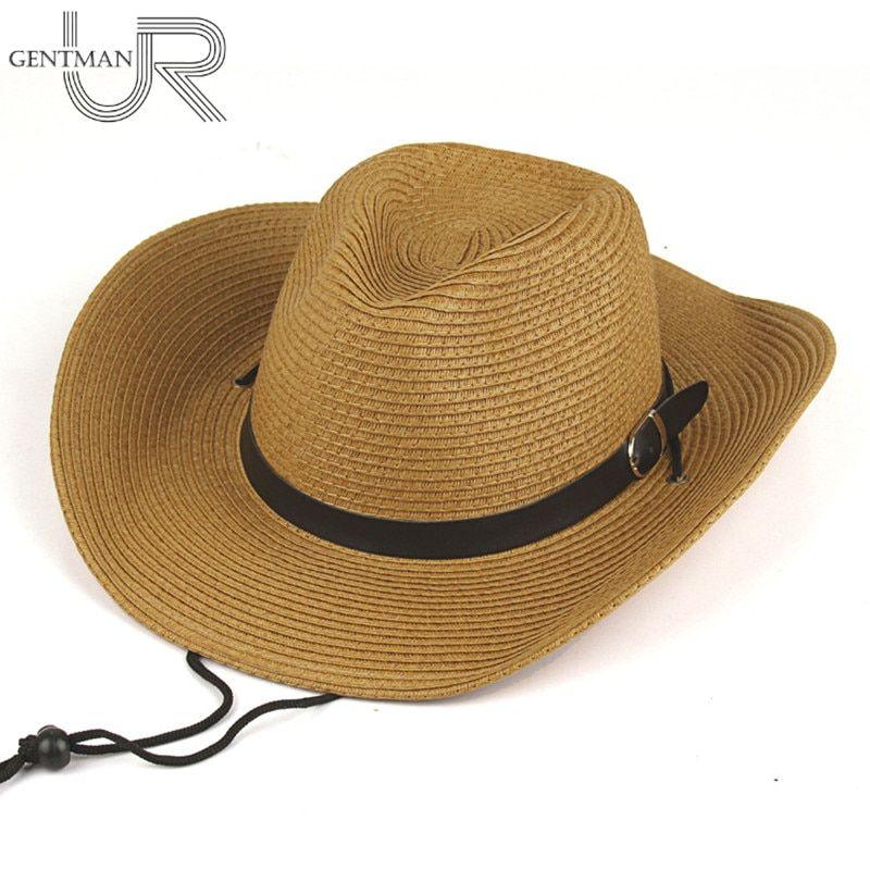 de0529fb Men And Woman Summer Straw Cowboy Hat Folding Beach Hat Large Brimmed Hat, Sun  Cap ,Bucket Hat 4 Colors