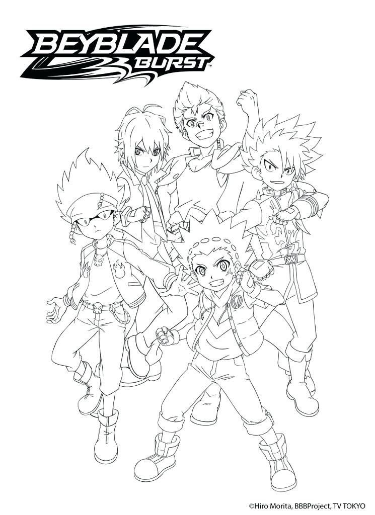 Coloring Pages Beyblade Burst Coloring Pages With Beyblade Burst