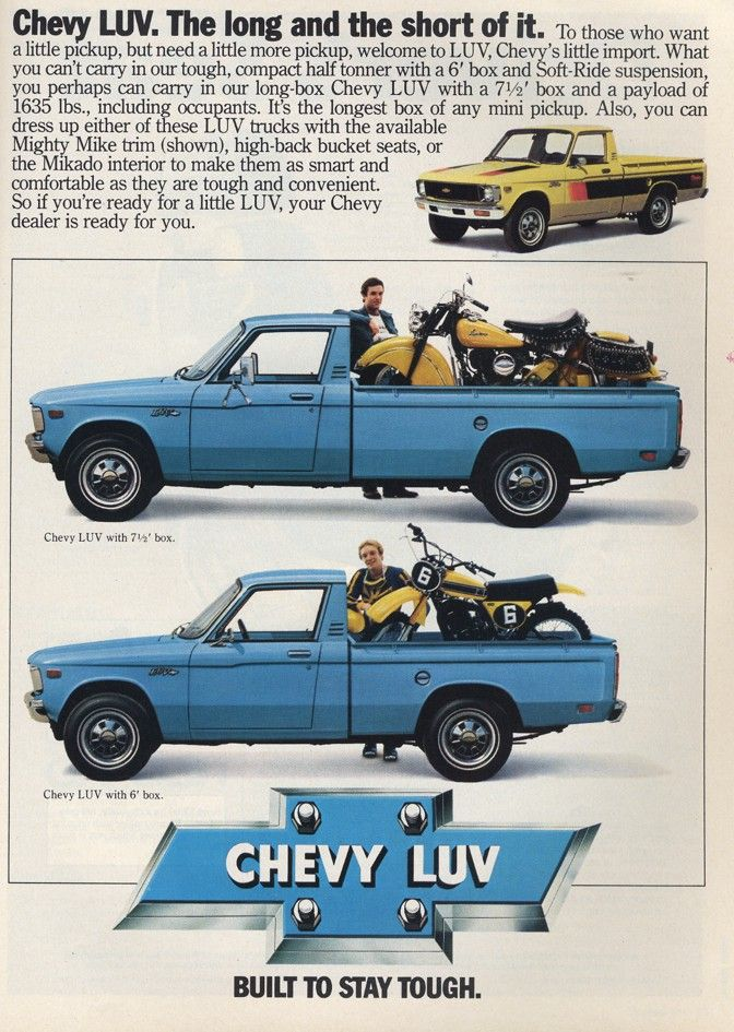 Chevrolet Luv Truck Ad Chevy Luv Chevy Pickup Trucks