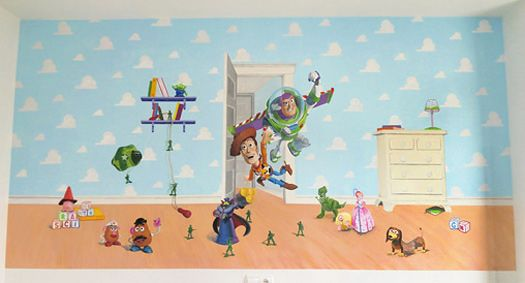 Murales Infantiles Mural Toy Story Habitacion De Cristina Mural Infantil Murales Mural