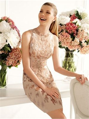 Sheath Round Neckline Sequined Short Prom Dress PD2294 www.simpledresses.co.uk £108.0000