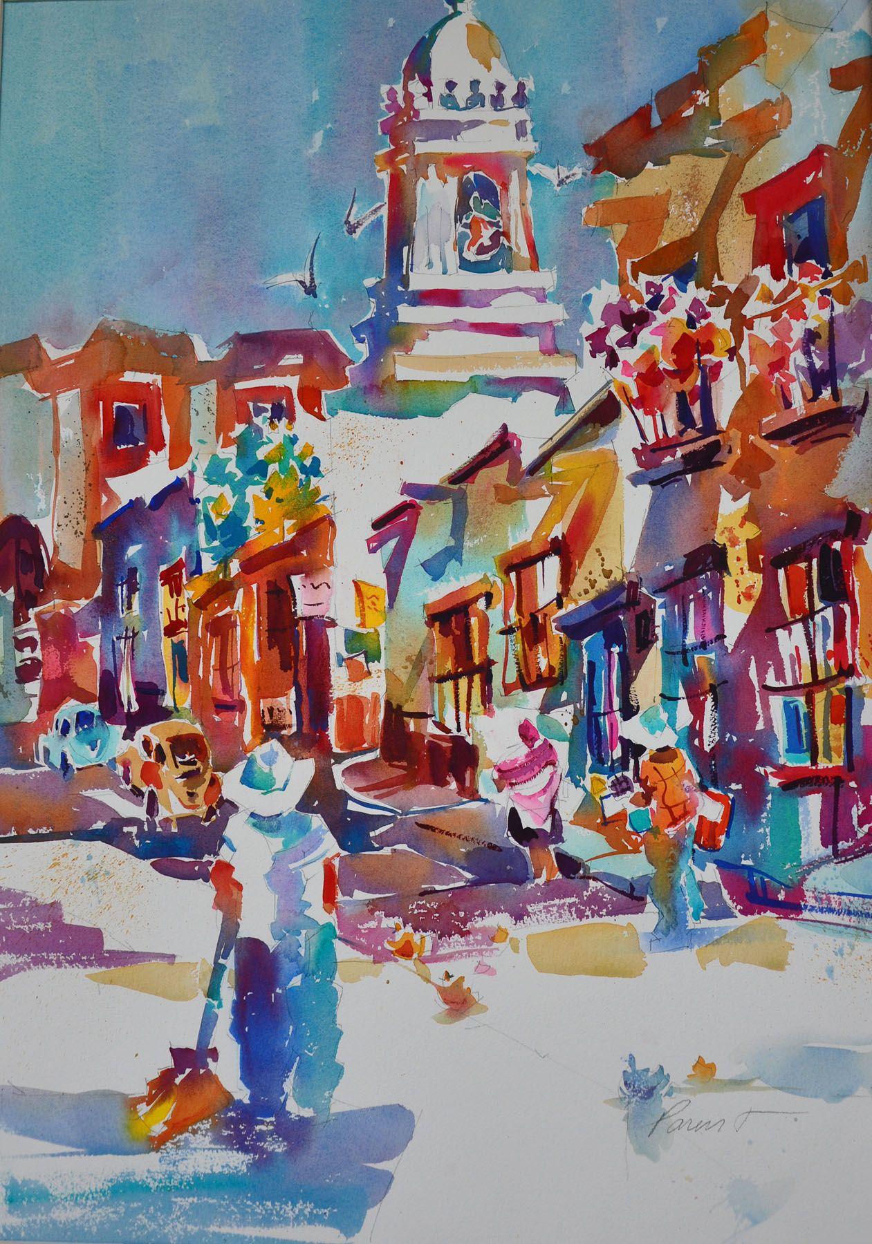 Watercolor By Roger Parent San Miguel De Allende Mexico