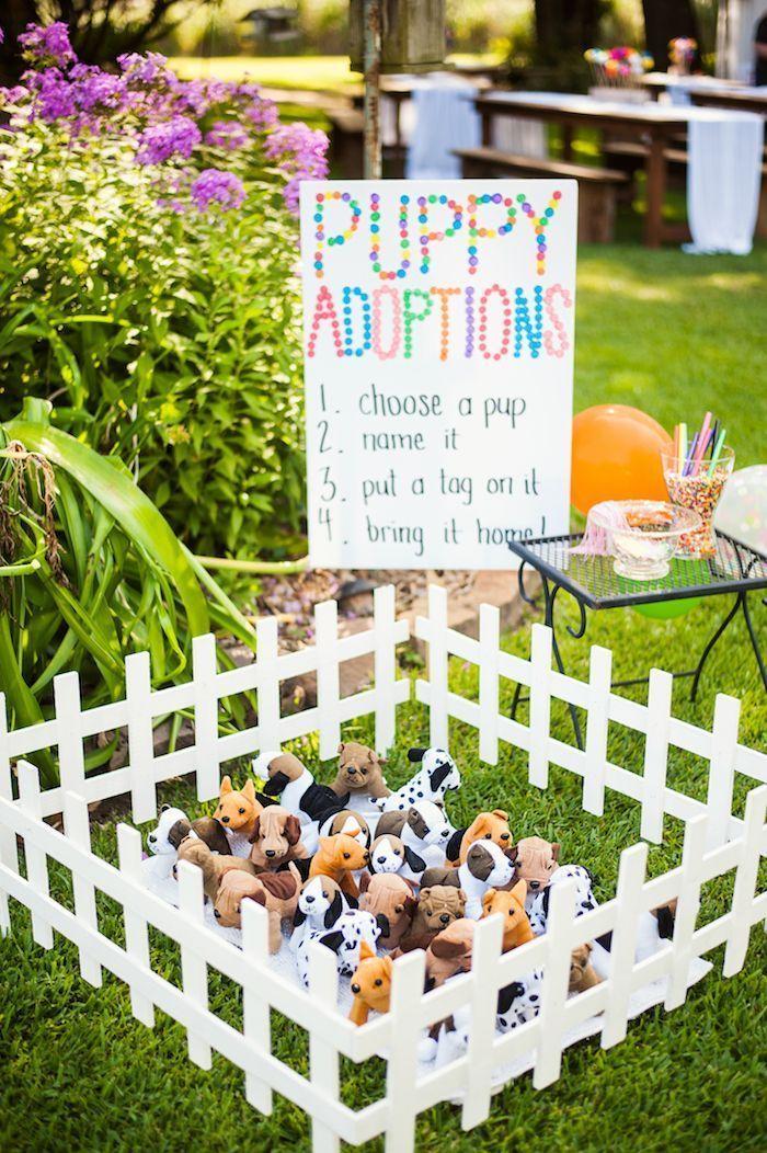 Welpen und Streusel-Geburtstagsfeier- Puppy Adoption Station von einer Welpen ...