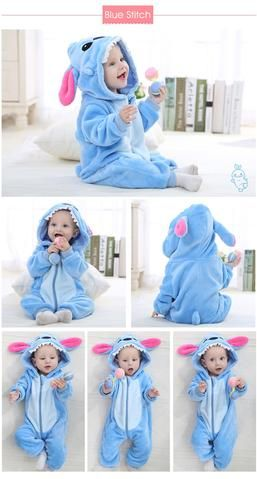 6513eb2a8 Baby Kigurumi Onesie Costume, Color - Blue Stitch | Costume Baby ...