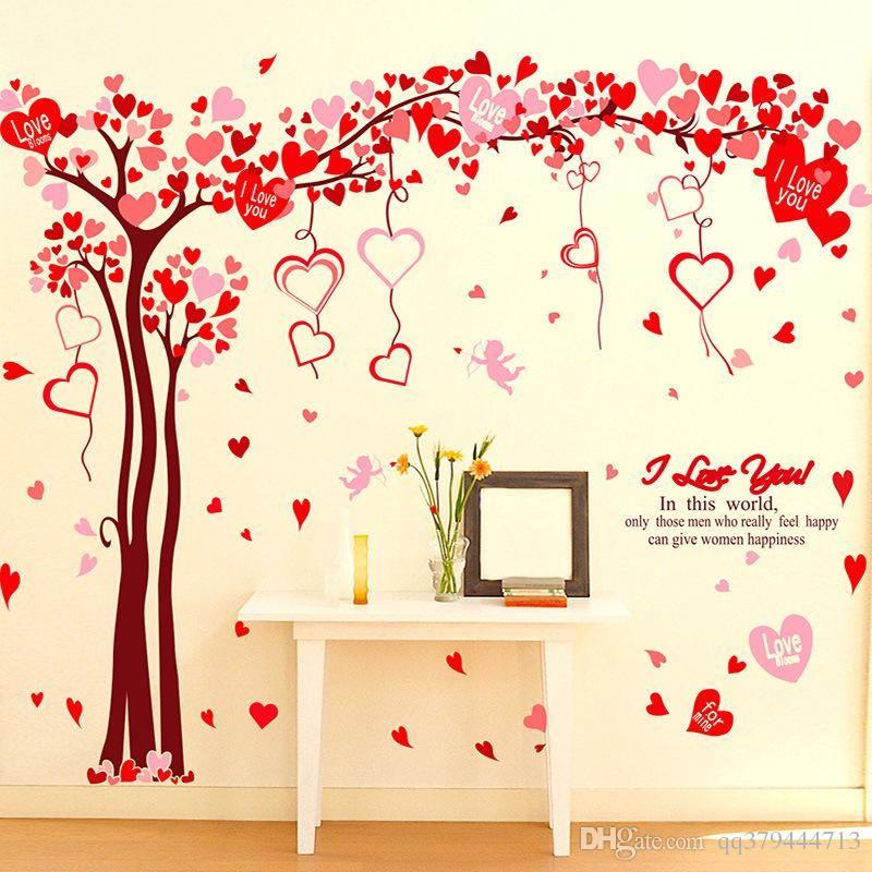 Best Valentines Day Love Tree Decorative Wall Stickers Bedroom 400 x 300