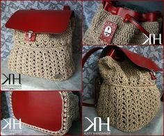 "Dorian Bag"" crochet bag uncinetto zainetto katy handmade"