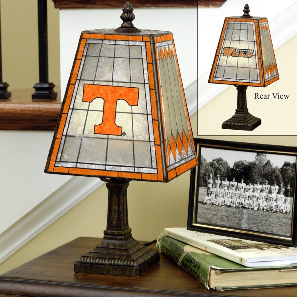 Memory Company Tennessee Volunteers 14-inch Art Glass Lamp, Grey