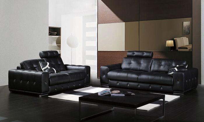 Free Shipping Classic 1 2 3 Black Leather Sofa Set Top Grain Leather And Solid Wood Frame Streched Headrest Sofa Set A0 Wohnzimmer Sofa Sitzgruppe Hausmobel