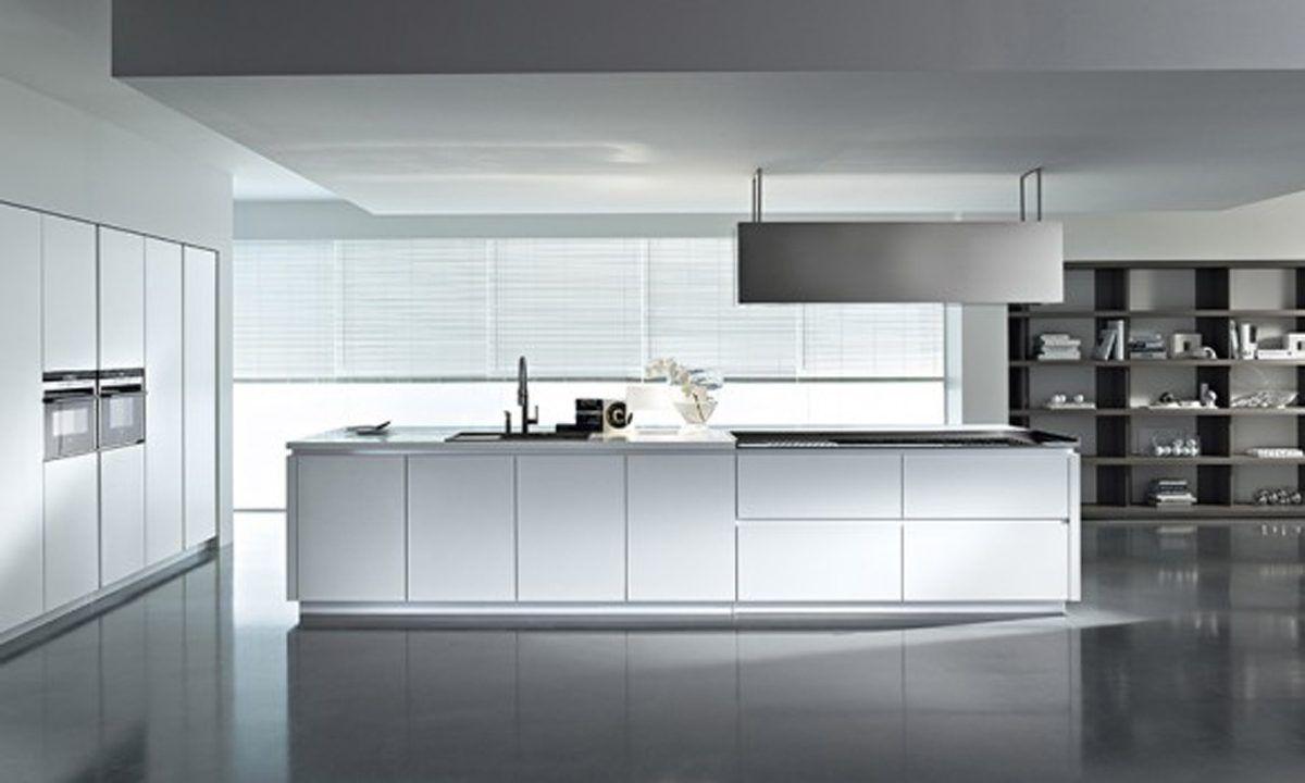 White kitchen cocina en blanco minimalista sin tiradores - Tiradores para cocinas ...