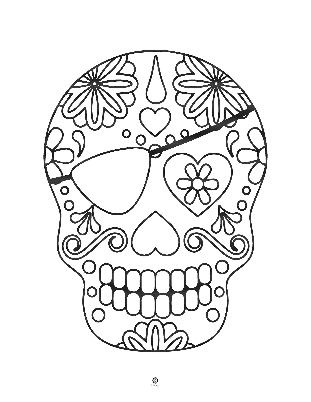 Sugar Skull Coloring Book Printable Etsy In 2020 Halloween Coloring Book Skull Coloring Pages Halloween Coloring Pages