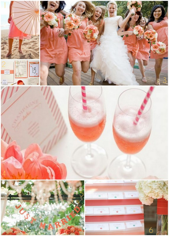 Wedding Pickle: Inspiration Board: Coral