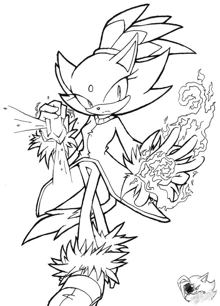 Blaze The Cat Line Art By Sonicgirlgamer71551 Coloring Pages To Print Coloring Pages Line Art