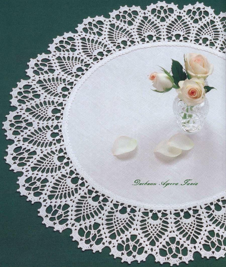 Free Crochet Doily Border Patterns | Tejido