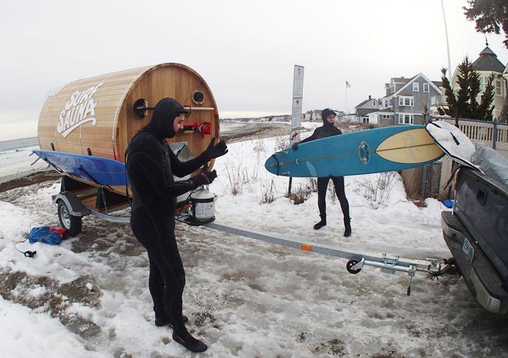 Surf Sauna in a Barrel Keeps Crazy Winter Surfers Warm | Inhabitat - Green Design, Innovation, Architecture, Green Building