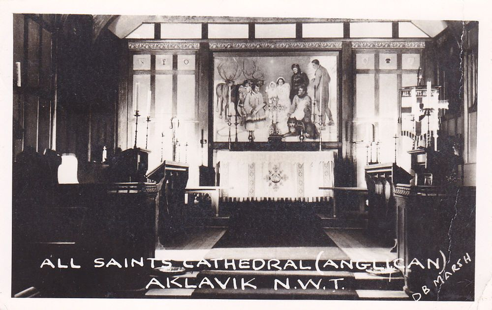 RP: Interior All Saints Cathedral (Anglican), AKLAVIK, NWT, Canada, PU-1951