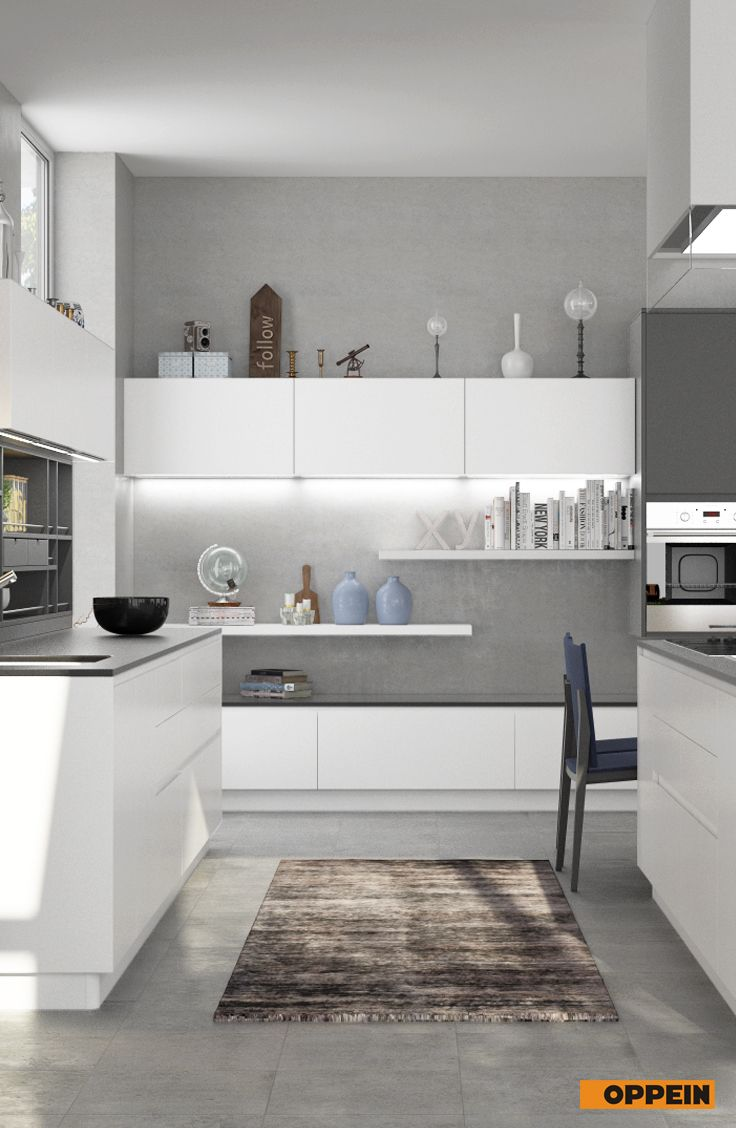 Modern White And Gray Matte Lacquer Kitchen Cabinet Kitchen Design Kitchen Wardrobe Home Furniture