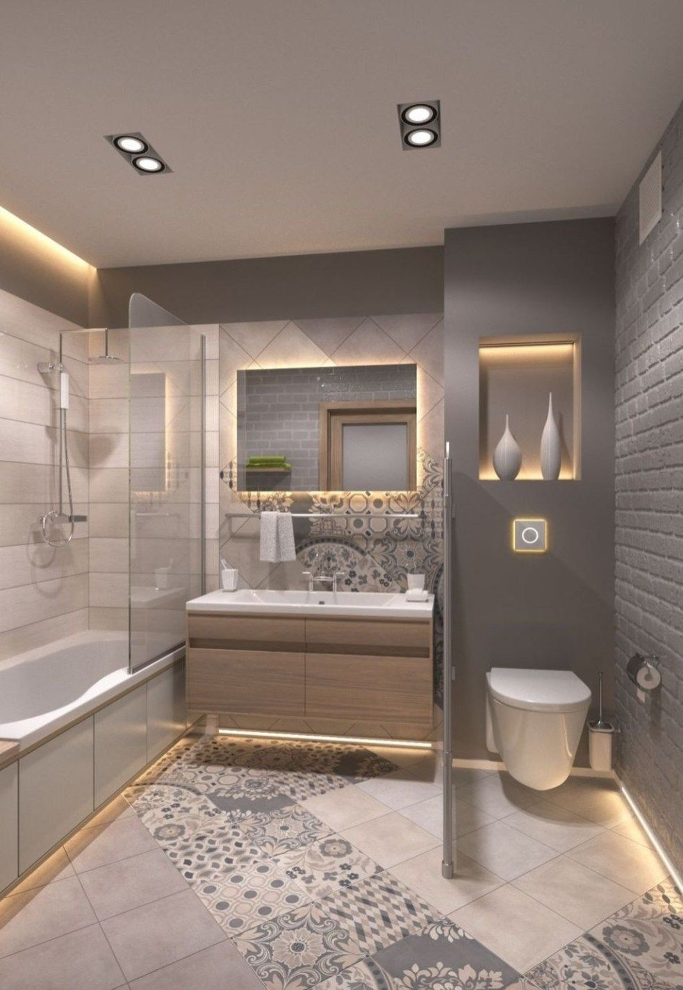 25 Amazing Bathroom Light Ideas is part of Small bathroom decor - Depends of the style you want to have in your bathroom, you can choose lights that are suitable for it  If your home is modern and minimalistic then you