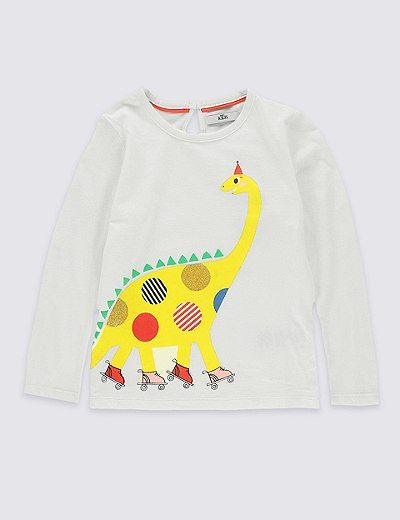 Pure Cotton Dinosaur Print Top (3 Months - 5 Years) | Marks & Spencer London