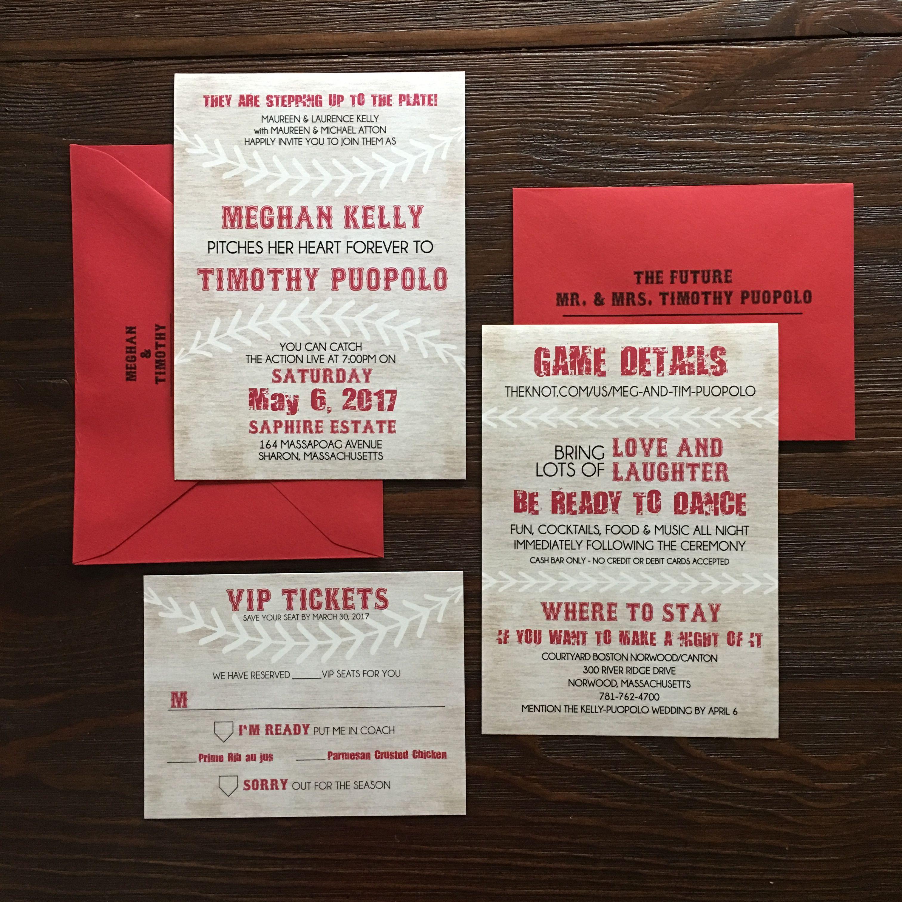 Baseball wedding invitations | Invitations by Tag Design | Pinterest ...