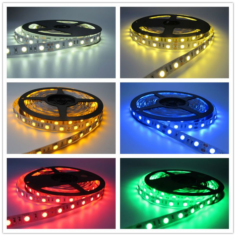 Hot Sale 5m 300leds Waterproof Rgb Led Strip Light 3528 5050 Dc12v 60leds M Fiexble Light Led Ribbon Tape Ho Rgb Led Strip Lights Led Strip Lighting Led Lights