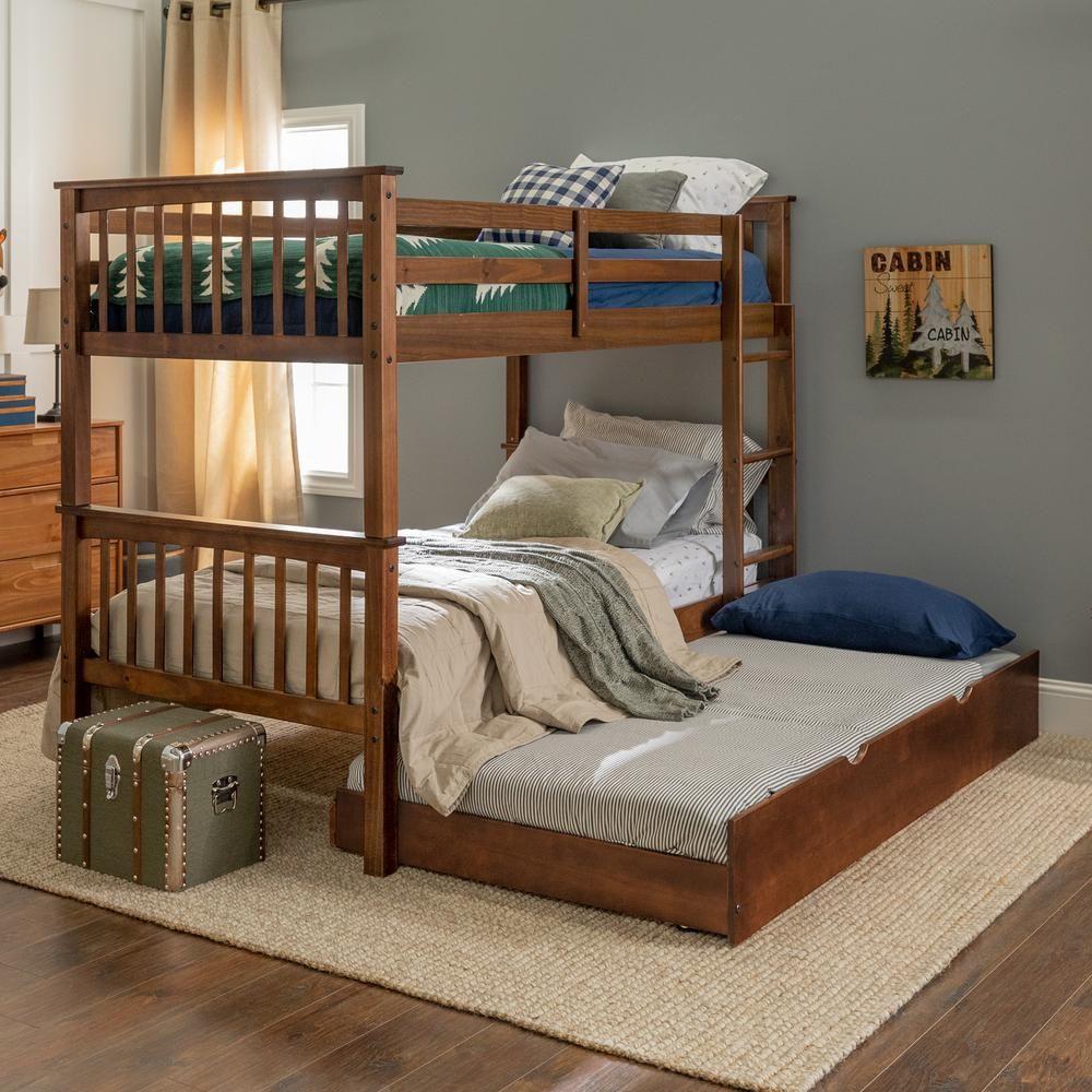 Walker Edison Furniture Company Solid Wood Walnut Twin