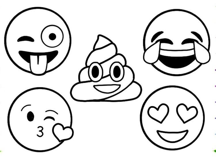 emoji coloring pages to print thema emoji kleurplaten