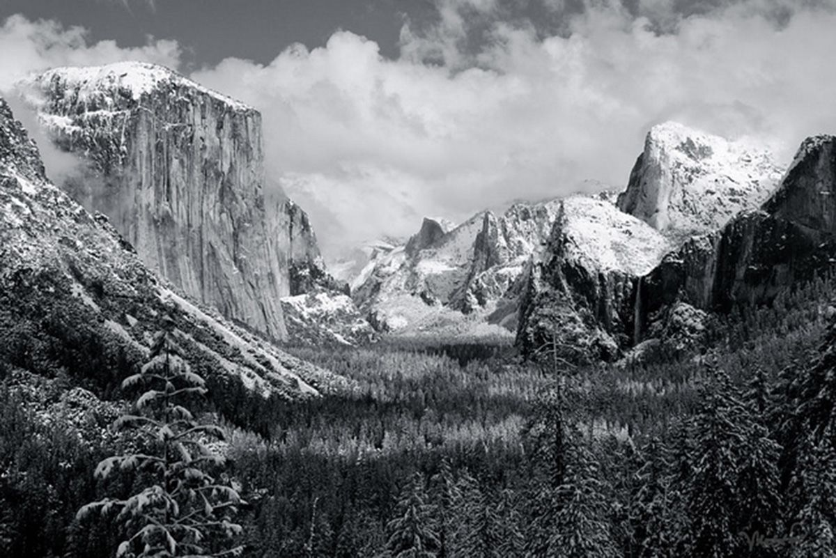 Ansel Adams. Yosemite Valley Clearing Winter Storm 1944