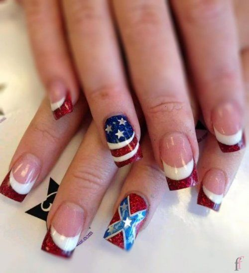 20 Best Nail Art Designs For 4th Of July 2018